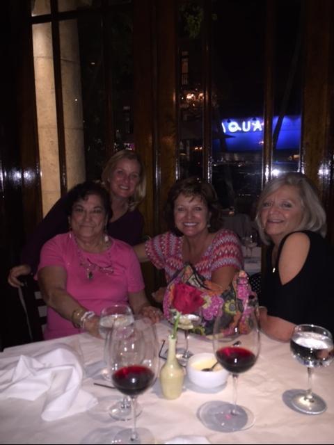 Lola, Lisa, Diane and me