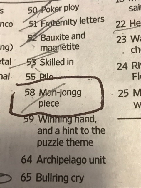check out this 58 across clue in yesterdays wall street journal crossword puzzle do you know the answer scroll down to see the completed puzzle and