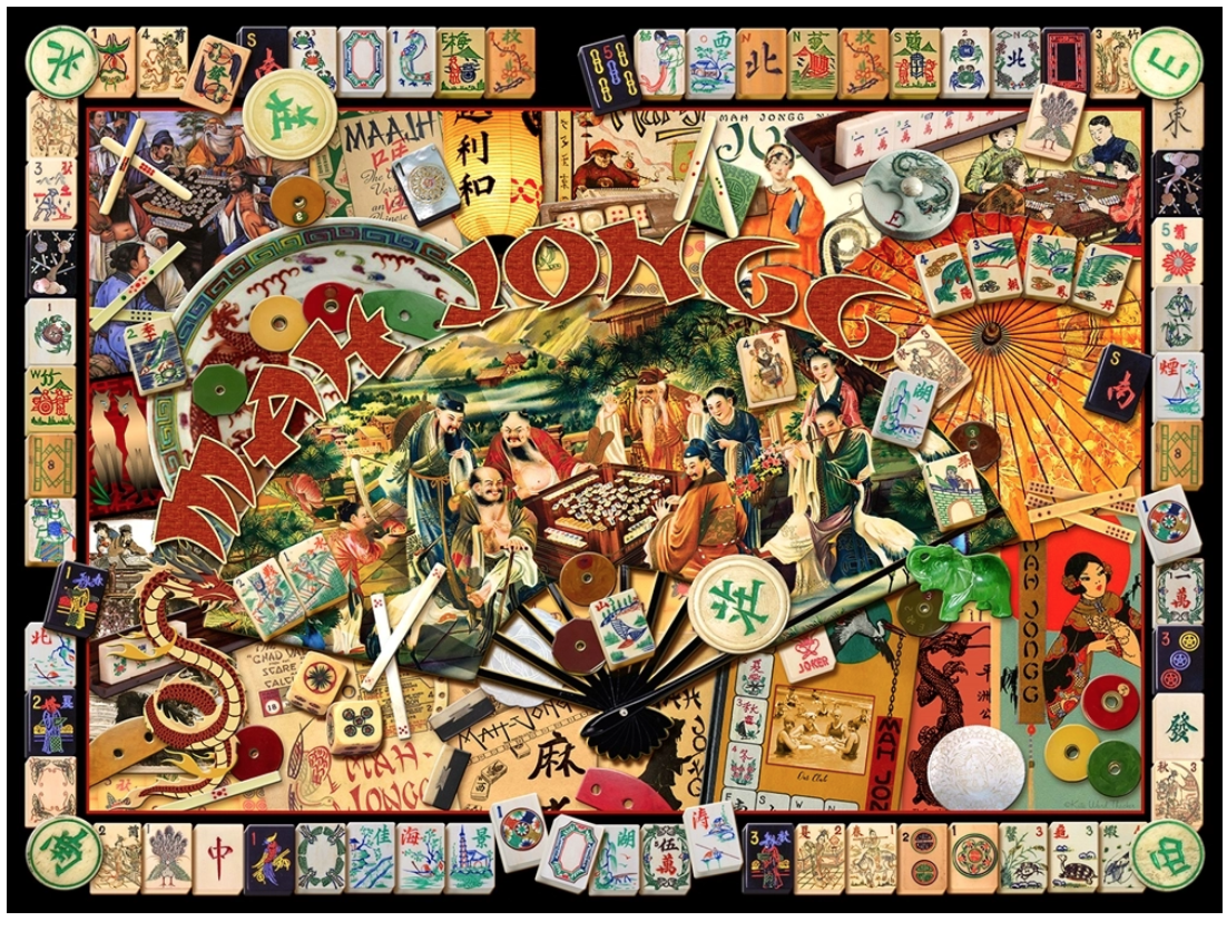 Masters Collage Jigsaw Puzzle Mah Jongg And Me